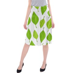 Spring Pattern Midi Beach Skirt