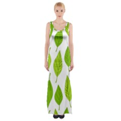 Spring Pattern Maxi Thigh Split Dress