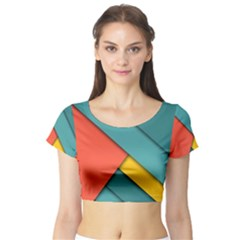 Color Schemes Material Design Wallpaper Short Sleeve Crop Top (tight Fit)