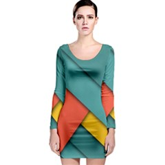 Color Schemes Material Design Wallpaper Long Sleeve Bodycon Dress