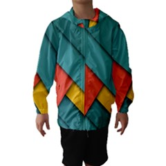 Color Schemes Material Design Wallpaper Hooded Wind Breaker (Kids)