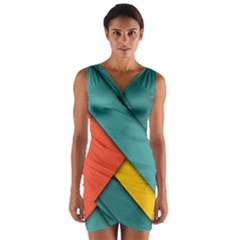 Color Schemes Material Design Wallpaper Wrap Front Bodycon Dress