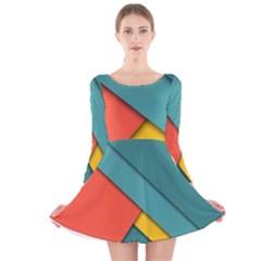 Color Schemes Material Design Wallpaper Long Sleeve Velvet Skater Dress