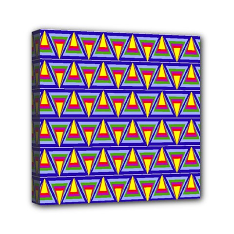 Seamless Prismatic Pythagorean Pattern Mini Canvas 6  X 6