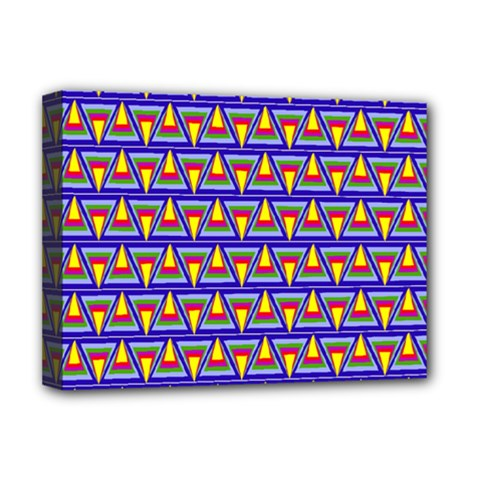 Seamless Prismatic Pythagorean Pattern Deluxe Canvas 16  x 12