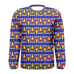 Seamless Prismatic Pythagorean Pattern Men s Long Sleeve Tee