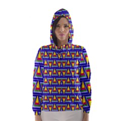 Seamless Prismatic Pythagorean Pattern Hooded Wind Breaker (women)