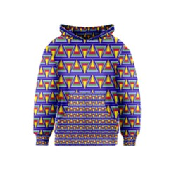 Seamless Prismatic Pythagorean Pattern Kids  Pullover Hoodie