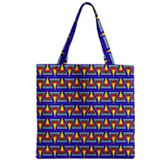 Seamless Prismatic Pythagorean Pattern Zipper Grocery Tote Bag