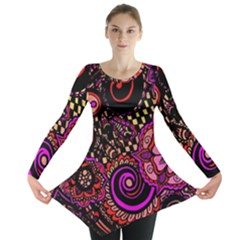 Sunset Floral Long Sleeve Tunic