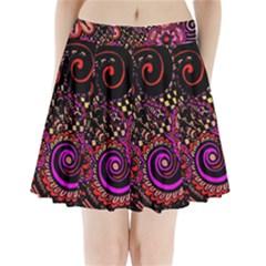 Sunset Floral Pleated Mini Skirt