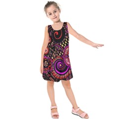Sunset Floral Kids  Sleeveless Dress