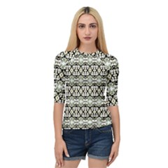 Abstract Camouflage Quarter Sleeve Tee