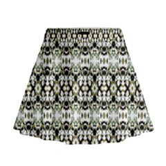 Abstract Camouflage Mini Flare Skirt