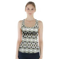 Abstract Camouflage Racer Back Sports Top