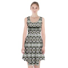 Abstract Camouflage Racerback Midi Dress