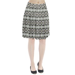 Abstract Camouflage Pleated Skirt