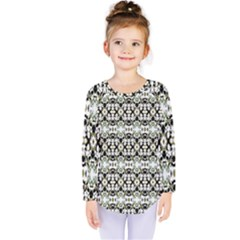 Abstract Camouflage Kids  Long Sleeve Tee