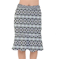 Abstract Camouflage Mermaid Skirt