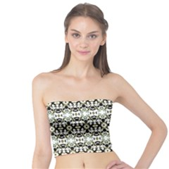 Abstract Ethnic Camouflage Tube Top