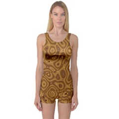 Giraffe Remixed One Piece Boyleg Swimsuit