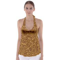Giraffe Remixed Babydoll Tankini Top