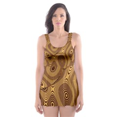 Giraffe Remixed Skater Dress Swimsuit
