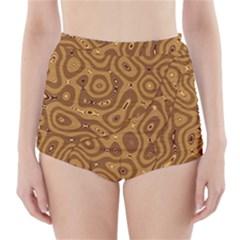Giraffe Remixed High Waisted Bikini Bottoms