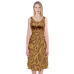 Giraffe Remixed Midi Sleeveless Dress