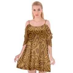 Giraffe Remixed Cutout Spaghetti Strap Chiffon Dress