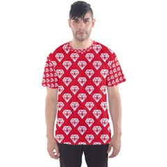 Diamond Pattern Men s Sport Mesh Tee