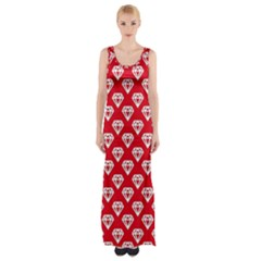 Diamond Pattern Maxi Thigh Split Dress