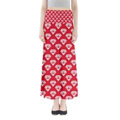Diamond Pattern Maxi Skirts
