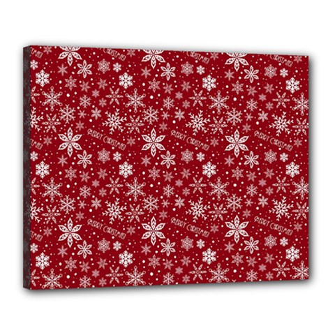 Merry Christmas Pattern Canvas 20  x 16