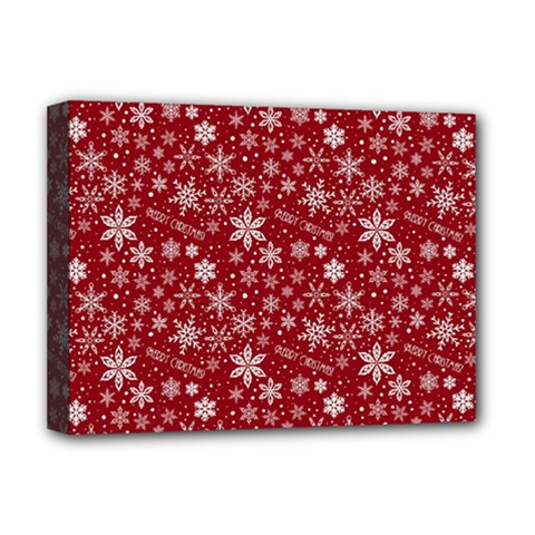 Merry Christmas Pattern Deluxe Canvas 16  X 12