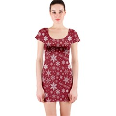 Merry Christmas Pattern Short Sleeve Bodycon Dress