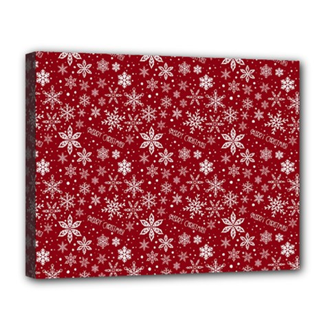 Merry Christmas Pattern Canvas 14  x 11