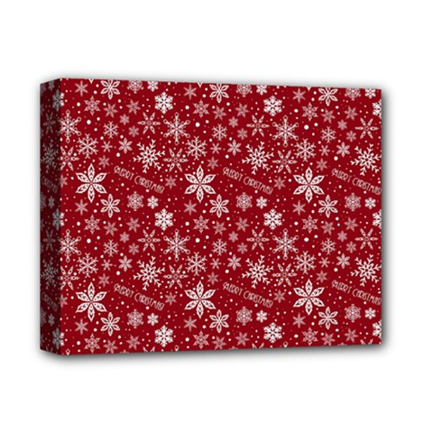 Merry Christmas Pattern Deluxe Canvas 14  x 11