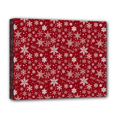 Merry Christmas Pattern Deluxe Canvas 20  x 16
