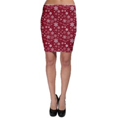 Merry Christmas Pattern Bodycon Skirt
