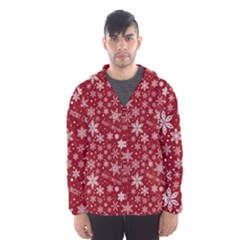 Merry Christmas Pattern Hooded Wind Breaker (Men)