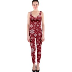 Merry Christmas Pattern Onepiece Catsuit