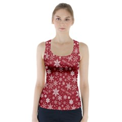 Merry Christmas Pattern Racer Back Sports Top