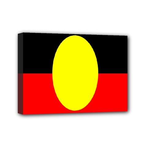 Flag Of Australian Aborigines Mini Canvas 7  x 5