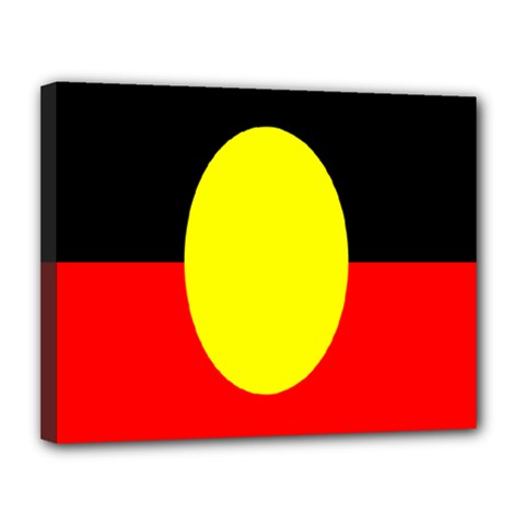Flag Of Australian Aborigines Canvas 14  x 11