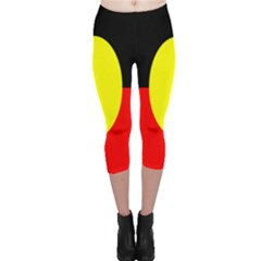 Flag Of Australian Aborigines Capri Leggings