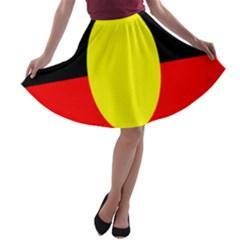 Flag Of Australian Aborigines A Line Skater Skirt