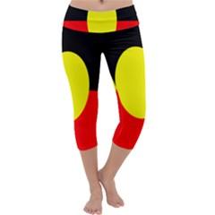 Flag Of Australian Aborigines Capri Yoga Leggings