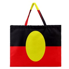 Flag Of Australian Aborigines Zipper Large Tote Bag