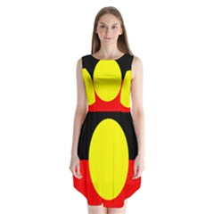 Flag Of Australian Aborigines Sleeveless Chiffon Dress